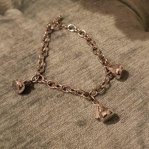 Sterling silver Hershey kiss charm bracelet